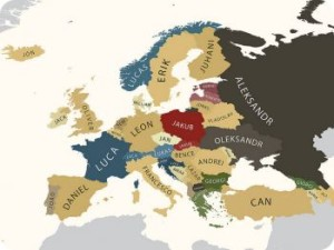 Страны и популярные имена